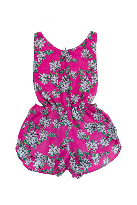 S17 Coco and Ginger Poet Playsuit - Cerise Almond