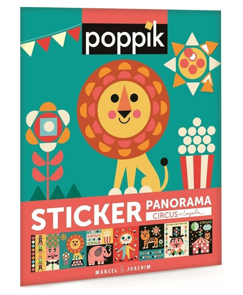 Poppik Pixel Sticker Art - Panorama Circus by Ingela