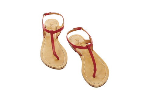 Eb and Ive Lagos Sandal - Red