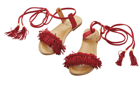 Eb and Ive Ra Ra Sandal - Fiesta Red