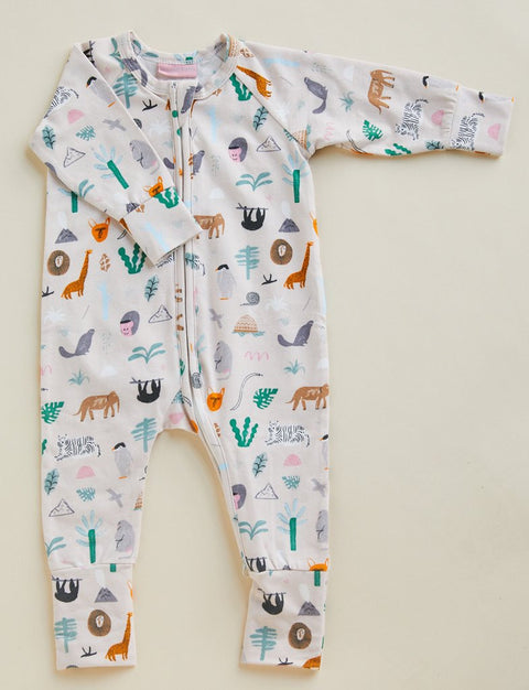 Halcyon Nights Jungle Party L/S Sleep Suit