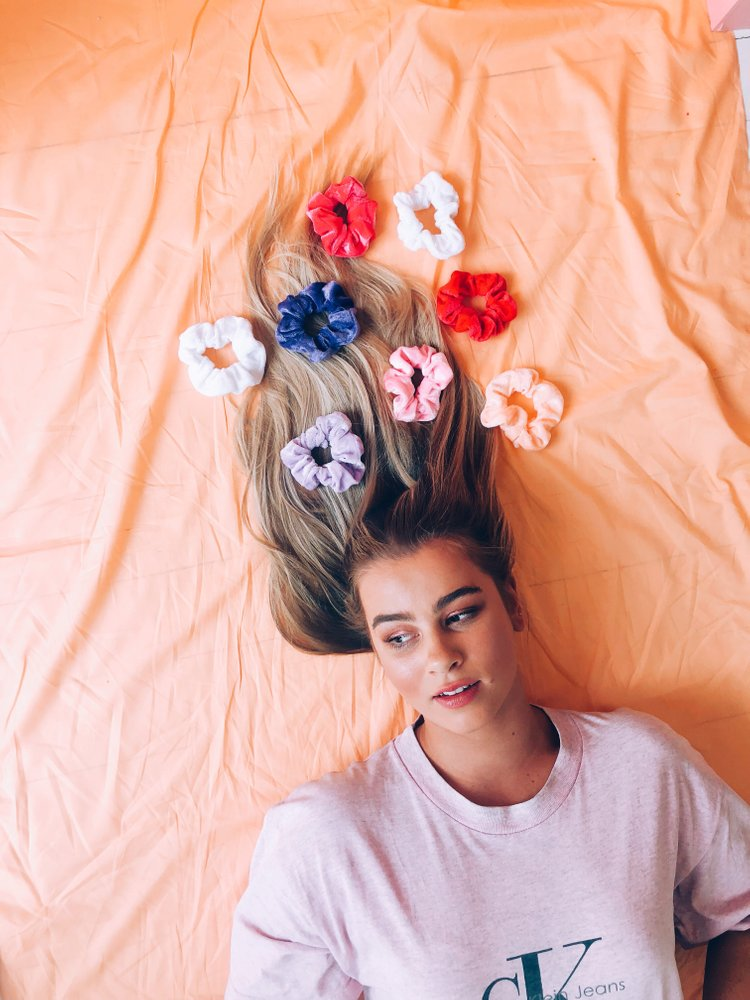 Peach-It Velvet Scrunchie - various colours