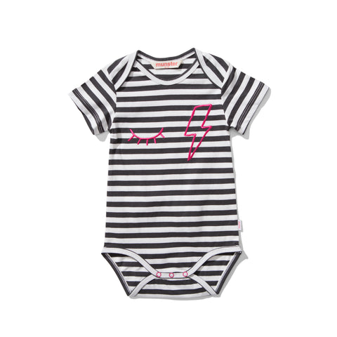 S17 Lil Missie Shut Eye Onesie - Stripe