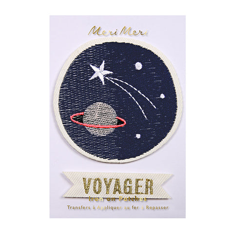 Meri Meri Iron On Patch - Space Voyager