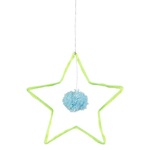 Meri Meri Wire and Wool Deco Star Decoration