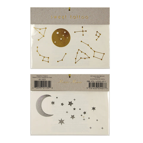 Meri Meri Tattoos - Star and Moon (Large)