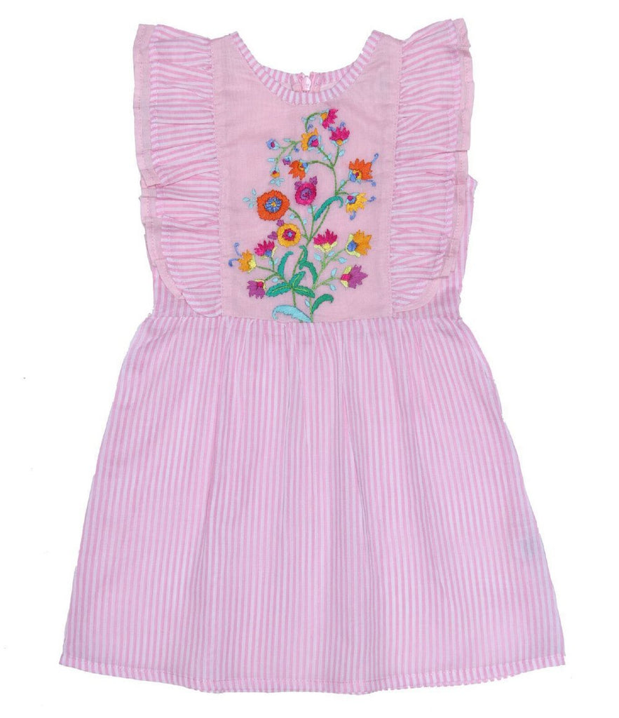 S18 Coco And Ginger (Baby) Viola Dress Stripped Pink with Hand Stitch
