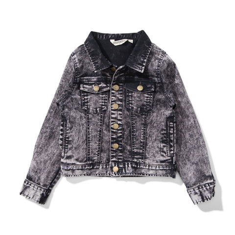 W18 Munster Kids Supster 2 Denim Jacket - Acid Black