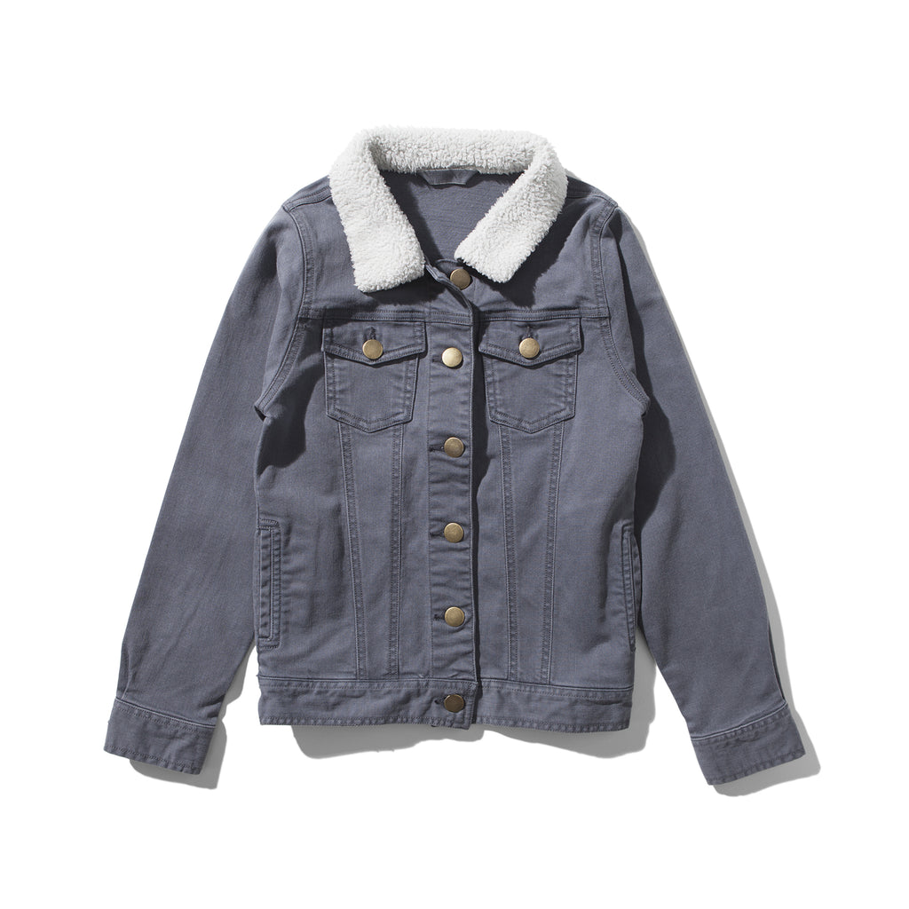 S17 Munster Kids Supster Denim Jacket - Ash Black