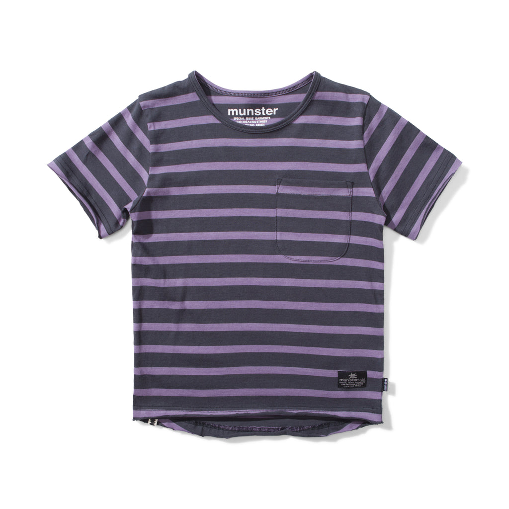 S18 Munster Kids Trasher Tee - Grape/Soft Black