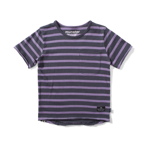 S18 Munster Kids Trasher Tee - Grape/Soft Black (Pre-Order)