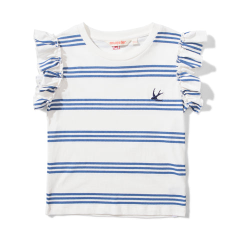 S18 Missie Munster Triple Frills Tee - Navy Stripe (Drop2)