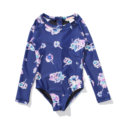S18 Missie Munster Usher L/S One Piece - Water Floral