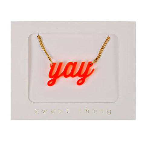 Meri Meri Orange Yay Necklace