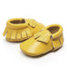 My Messy Room Leather Moccs - Yellow