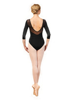 Embroidered Trim 3/4 Sleeve Leotard by Bloch
