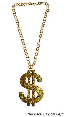 Necklace Large Dollar Sign