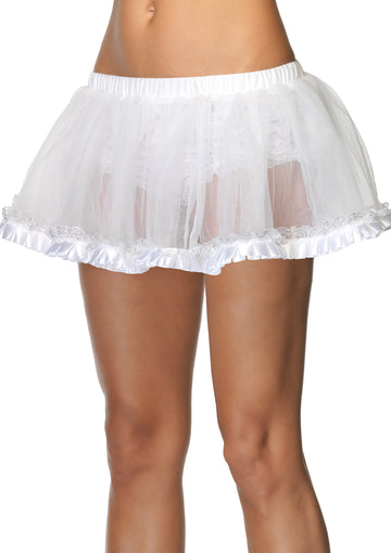 Pleated Satin Ribbon Short Pettiskirt