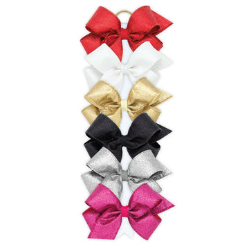 Party Glitter Overlay Bow - Medium