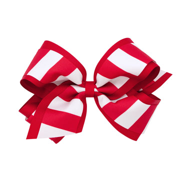 Striped Overlay Bow