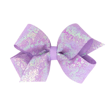 Iridescent Sequin Overlay Bow