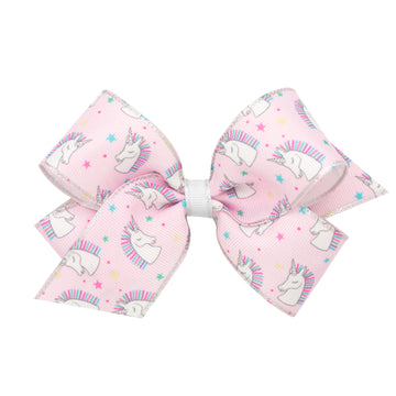 Unicorn Print Bow
