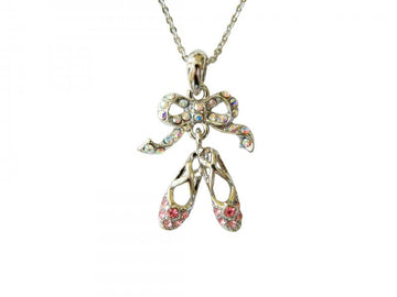 Necklace Double Pointe Shoe- Small