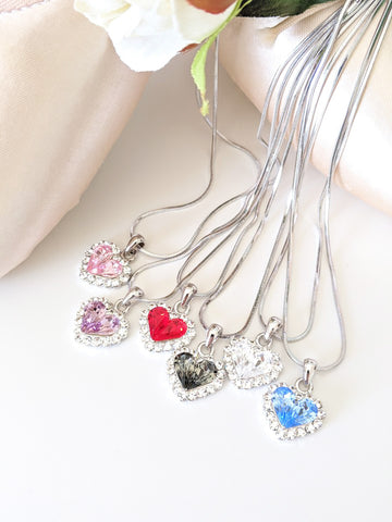Necklace Crystal Heart