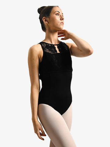 Leotard Tank Lace Overlay Danznmotion (Adult)