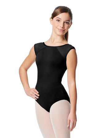 Nikita Cap Sleeve Mesh Leotard by Lulli (Child)