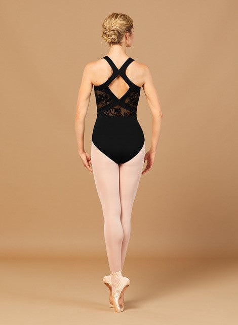Velvet Embossed Wide Strap Leotard by Bloch (Adult)