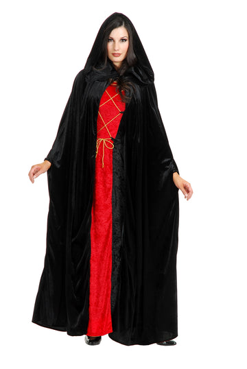Hooded Cloak Velvet (Adult)