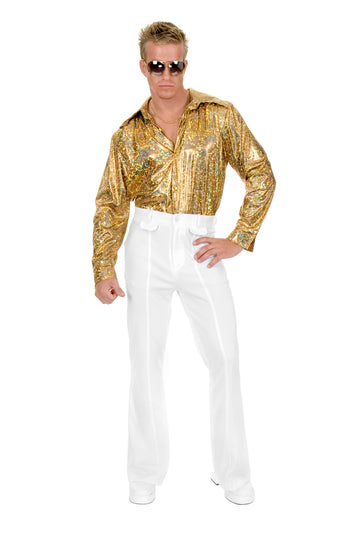 Gold Glitter Disco Shirt Plus (Adult)