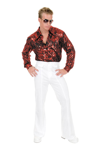 Flame Hologram Disco Shirt (Adult)