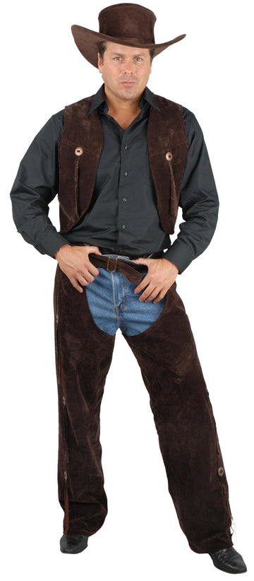 Sueded Chaps & Vest (Adult)
