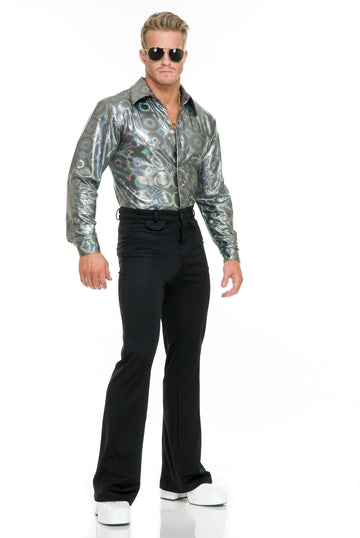 Silver Hologram Disco Shirt (Adult)