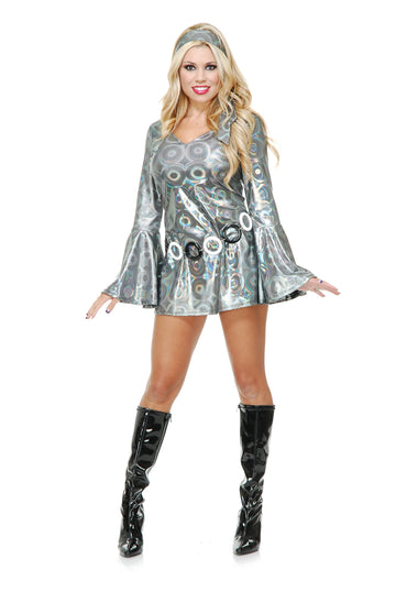 Silver Hologram Disco Queen (Adult)