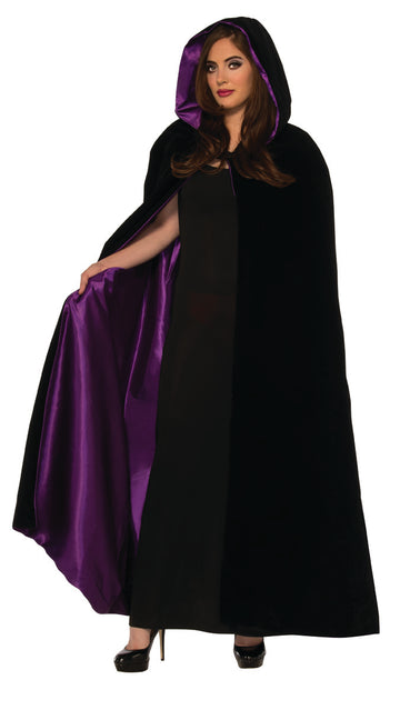 Velvet Cape Hooded with Lining
