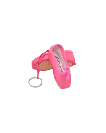 Pointe Shoe Keychain - Hot Pink