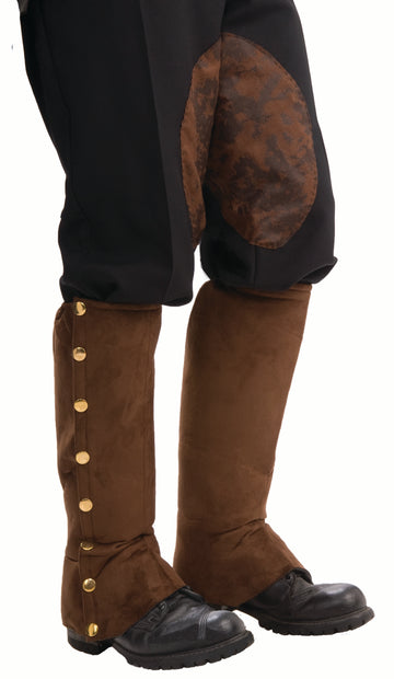 Steampunk Suede Spats (Adult)
