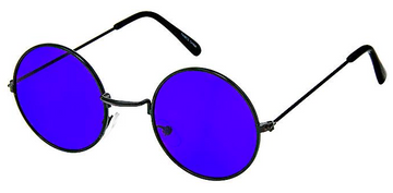 Round Glasses Colored Lens
