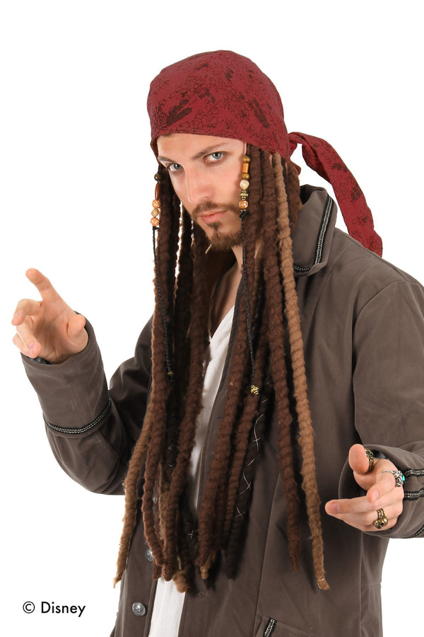 Jack Sparrow Scarf with attached dreads