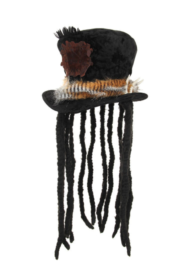 Witch Doctor Plush Hat with dreads