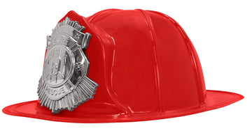 Fire Captain Hat- Black or Red (Adult)