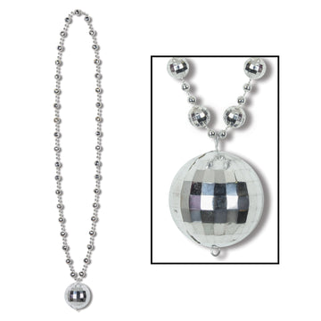 Mirrored Ball Disco Necklace