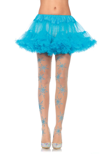 Let it Snow Sheer Glitter Tights