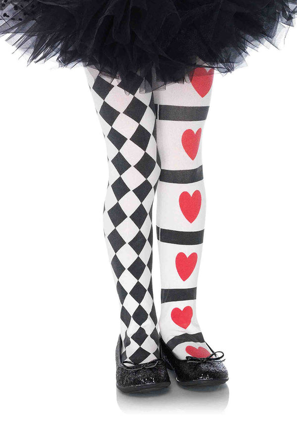 Harlequin and Heart Tights (Child)
