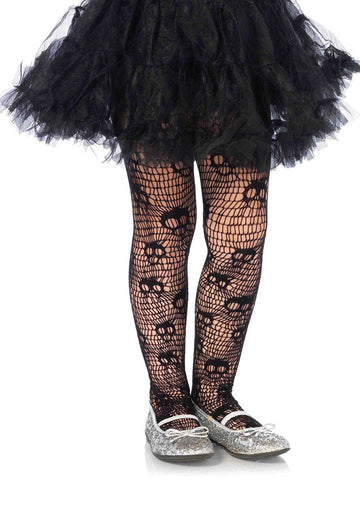 Skull Striped Net Tights (Child)