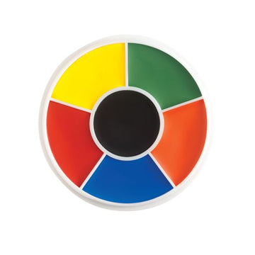 Rainbow Creme Pro Character Makeup Wheel (6 colors) by Ben Nye