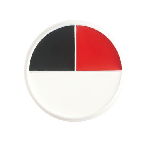 Red/White/Black Pro Creme Character Wheel (3 colors) by Ben Nye